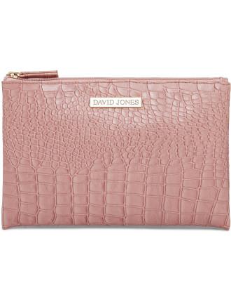 Croc Flat Cosmetic Bag