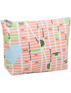 Large Cosmetic Bag - Heart Map $24.95
