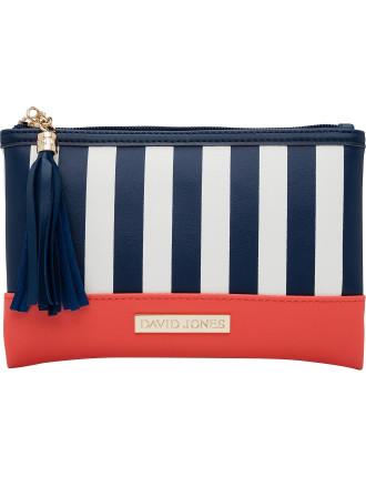 Stripe Tassel Flat Cos Bag
