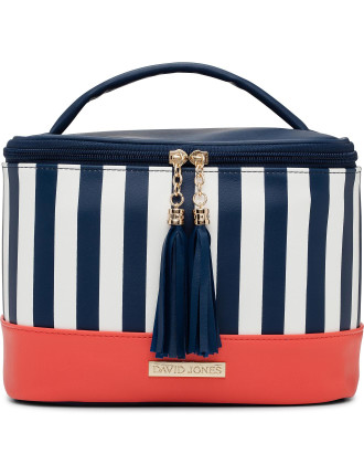 Stripe Tassel Train Cos Bag