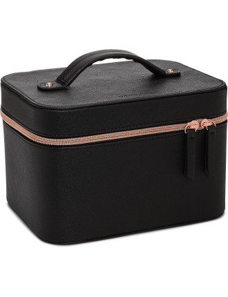 David Jones Black Saffiano Beauty Case