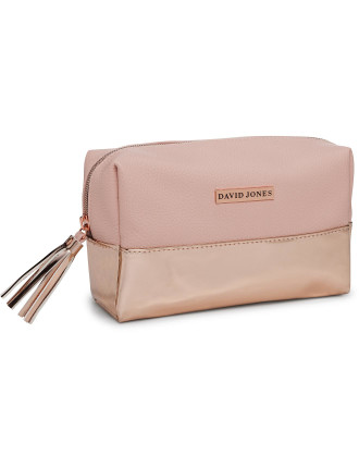 David Jones Duo Rose Gold Cosmetic Bag