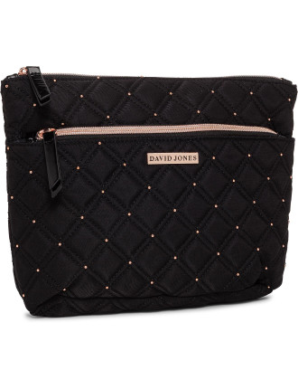 David Jones A-Line Cosmetic Bag Quilted Rose Gold