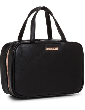 David Jones Travel Bag Black Pebble PU