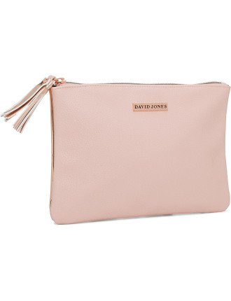 David Jones Duo Flat Bag Rose Gold