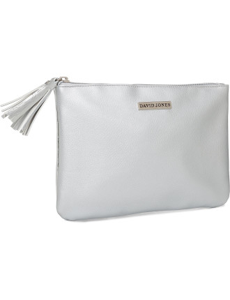 David Jones Duo Flat Bag Silver