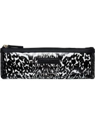 Clear leopard pencil beauty bag
