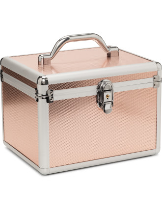 Rose Gold Large Cosmetic Case