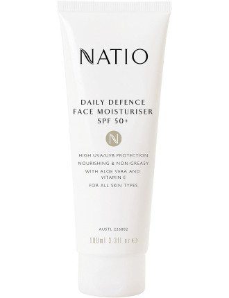 Daily Defence Face Moisturiser Spf 50+
