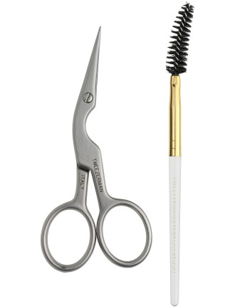 Precision Point Brow Shaping Scissors And Brush
