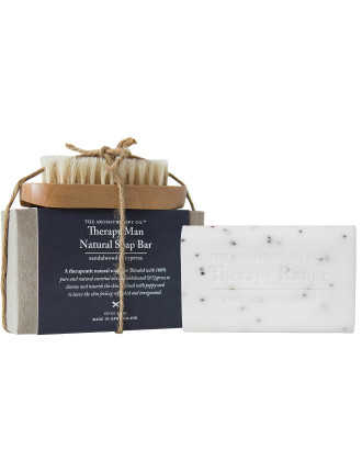 Man Natural Soap Bar & Nailbrush 150g