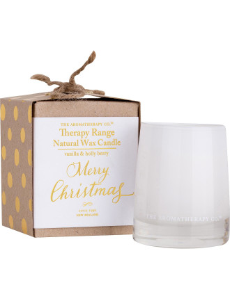 Therapy Votive Candle Ltd Ed - Vanilla & Holly Berry