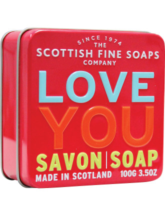 Soap In A Tin Occasions Message in Love You