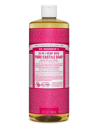 Liquid Castile Soap 946ml - Rose