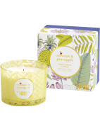 Tropicalia 3 Wick Candle - Coconut & Pineapple $54.95