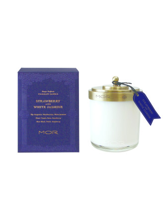 Mor Fragrant Candle 380g Strawberry & White Jasmine