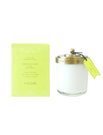 Mor Fragrant Candle 380g French Pear & Vanilla
