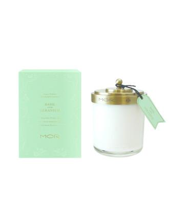 Mor Fragrant Candle 380g Basil & Geranium