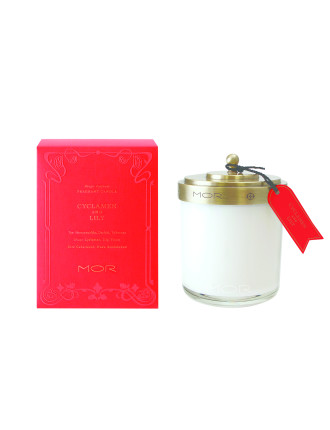 Mor Fragrant Candle 380g Cyclamen & Lily