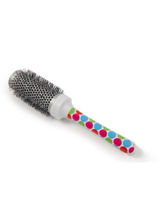 Large Radial Brush Multicoloured Polka Dot