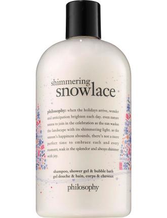 SHIMMERING SNOWLACE  SHOWER GEL & BUBBLE BATH