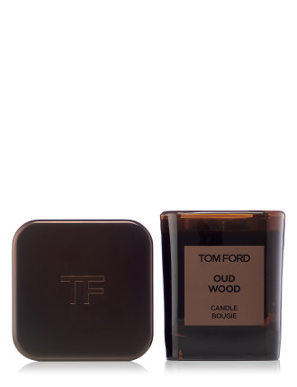 Oud Wood Candle And Cover Set