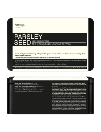 Parsley Seed Anti-Oxidant Trio