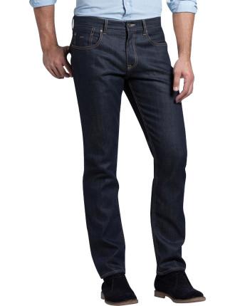 Straight Coated Dark Jean