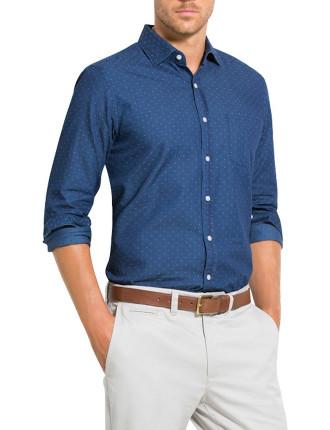 Indigo Jcqrd Spot Shirt