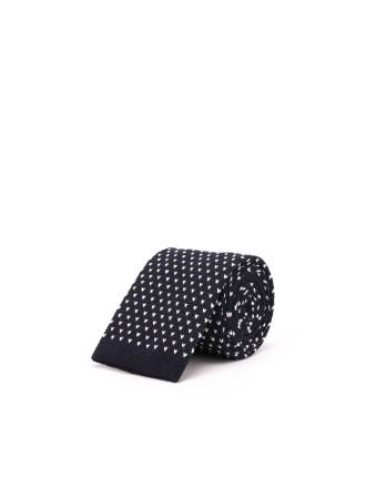 Pickstitched Knitted Tie