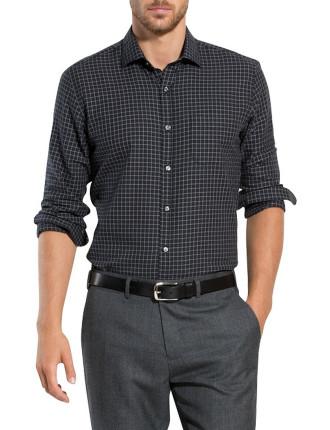 Melange Grid Check Shirt