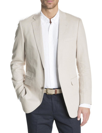 Linen Cotton Twill Jacket