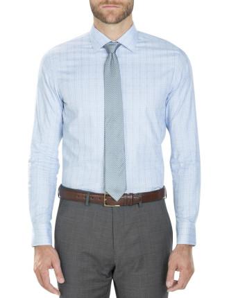 Modern Textured Overcheck Shirt
