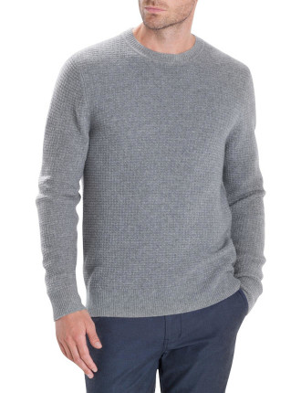 Waffle Textured Crew Knit