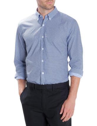 Stripe Check Print Shirt
