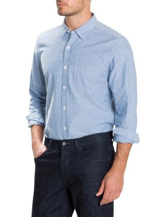 Melange Nep Oxford Shirt