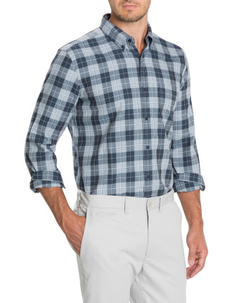 Tonal Melange Checked Shirt