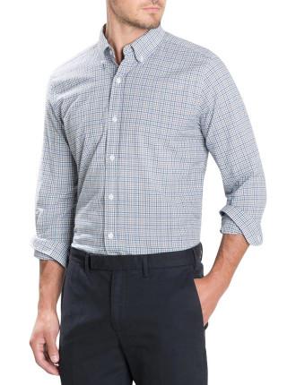 Melange Windowpane Check Shirt