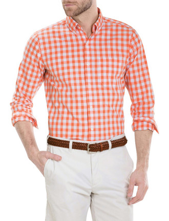 Slub Textured Gingham Shirt