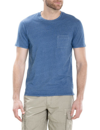 Indigo Slub Pocket T-Shirt