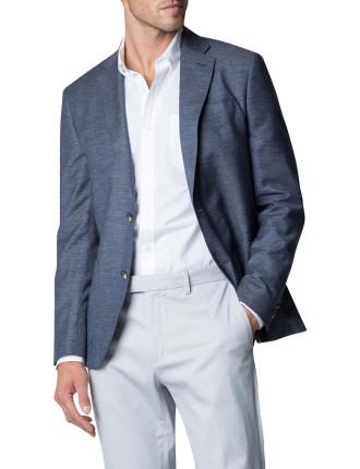 Wool Cotton Yarn Dyed Textured Blazer