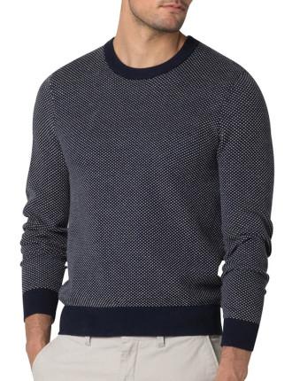 Cotton Jacquard Spot Knit