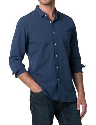 Cotton Denim Clip Shirt