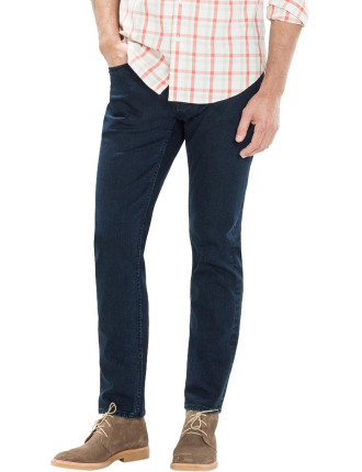 Slim Straight Washed Organic Cotton Jean