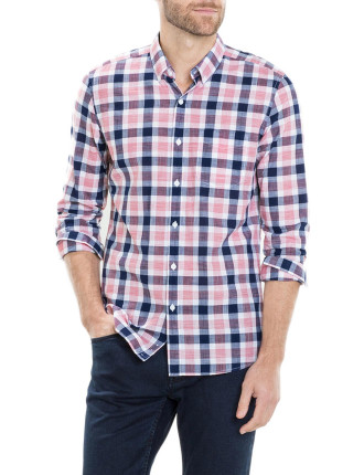 Italian Textured Double Check Shirt