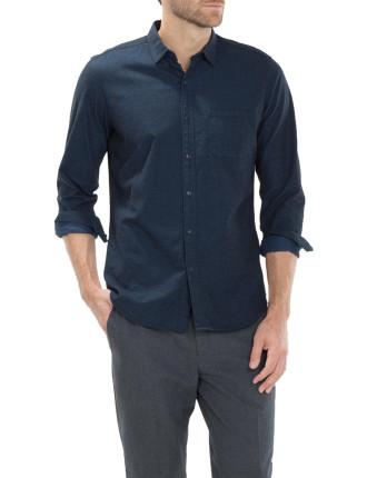 Tonal Twill Denim Shirt