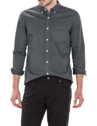 Garment Dyed Compact Twill Shirt
