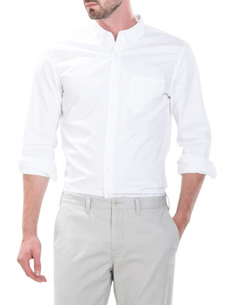 Washed Compact Twill Shirt