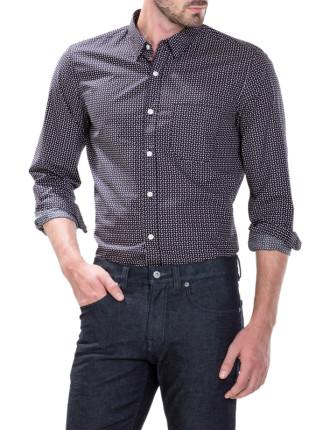 Tonal Arc Print Shirt