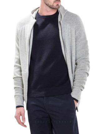 Modern Hooded Knit Jacket